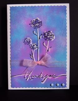 Thankyou script blue