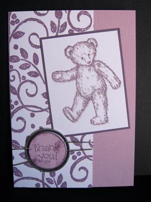 Glittery plum teddy
