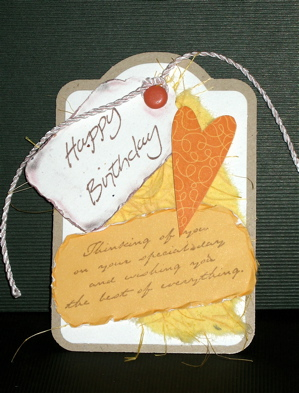 eclectic with happy heart stamp