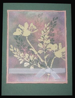 Pastel emboss resist bouquet
