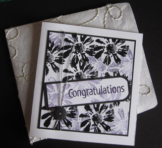 Black emboss resist and stamping off