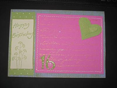 Birthday Card for colour challenge